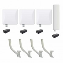 Ligowave CCTV Bundle for 3 Cameras - 90Deg Sector Antenna
