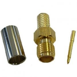 RP-SMA-Female Socket/Connector, Reverse Polarity (HDF/LMR 200) CON-RSMA-200-SKT